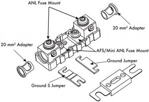ESX DFH-ANL - modułowa oprawa bezpiecznika Mini-ANL / ANL
