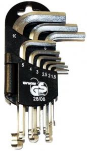 Komplet kluczy ampulowych 9szt. NAR0165