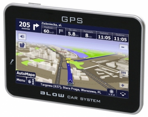 BLOW GPS50iBT Biała - AutoMapa PL